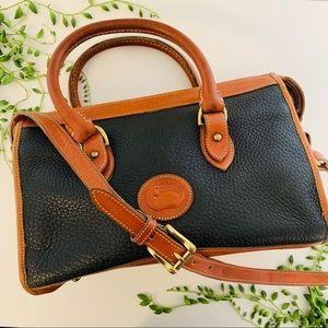 Dooney & Bourke Black Tan Satchel Crossbody Bag